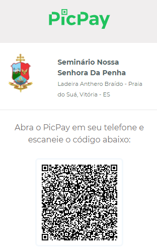 QR Code PIC PAY do Seminário Arquidiocesano, para doações.